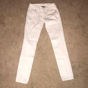 White jeans, Armani exchange
